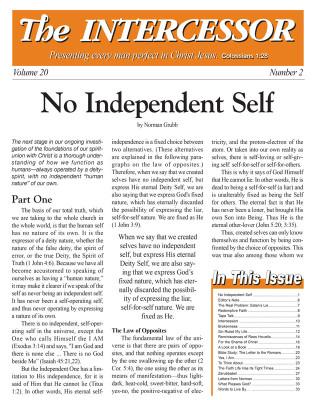 The Intercessor, Vol 20 No 2