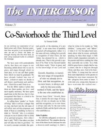 The Intercessor, Vol 21 No 1
