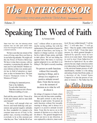 The Intercessor, Vol 21 No 3