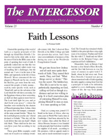 The Intercessor, Vol 21 No 4
