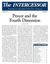 The Intercessor, Vol 23 No 1