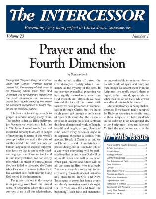 The Intercessor, Vol 23 No 1