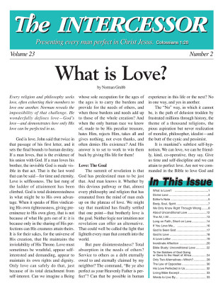 The Intercessor, Vol 23 No 2