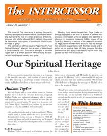 The Intercessor, Vol 26 No 1