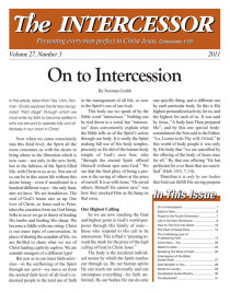 The Intercessor, Vol 27 No 3