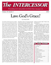 The Intercessor, Vol 30 No 1